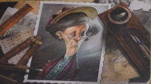 Bild: Foto einer älteren, schön gekleideten Dame