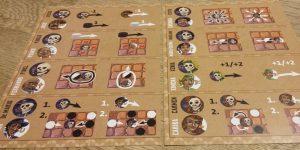 Bild: Spielfeld mit Spielmaterial