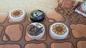 Bild: Spielfeldausschnitt mit Spielsteinen
