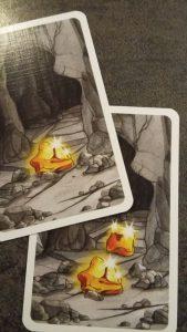 Bild: 2 aufgedeckte Spielkarten