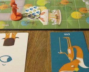 Bild: Spielplan-Ausschnitt mit Karten und Spielfigur