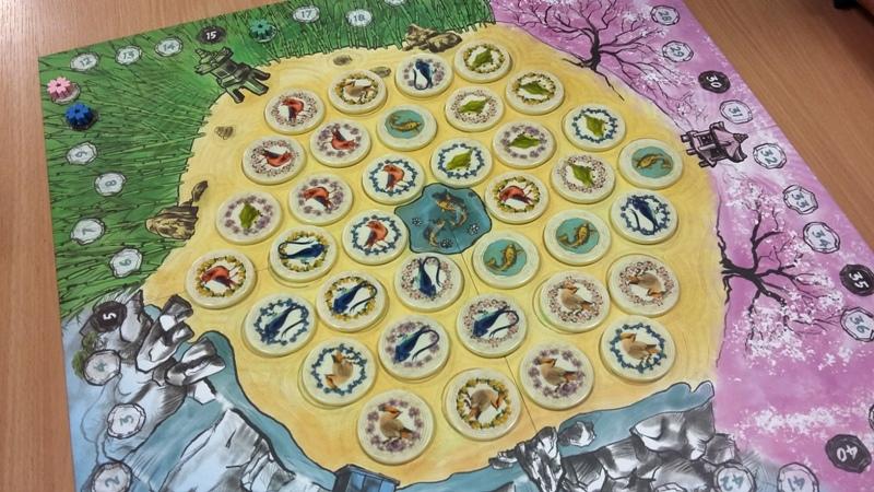 Bild: Spielfeld mit Spielsteinen