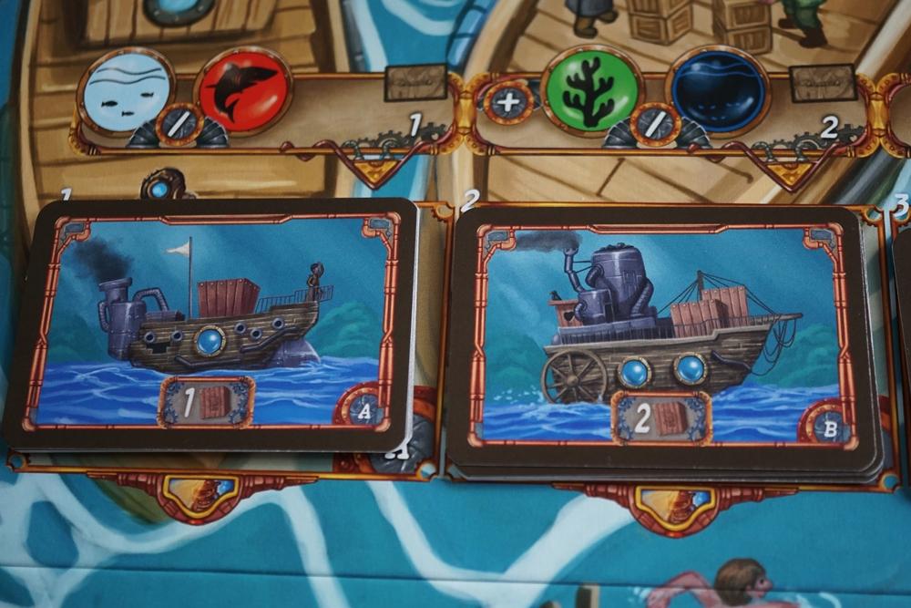 Schiffskarten mit unterschiedlicher Ladekapazität