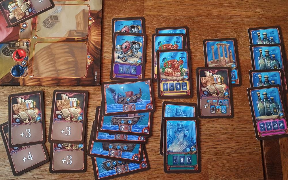 Die Beute an Karten zum Spielende