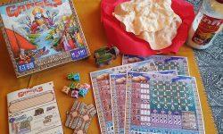 Spielkarton und enthaltenes Material