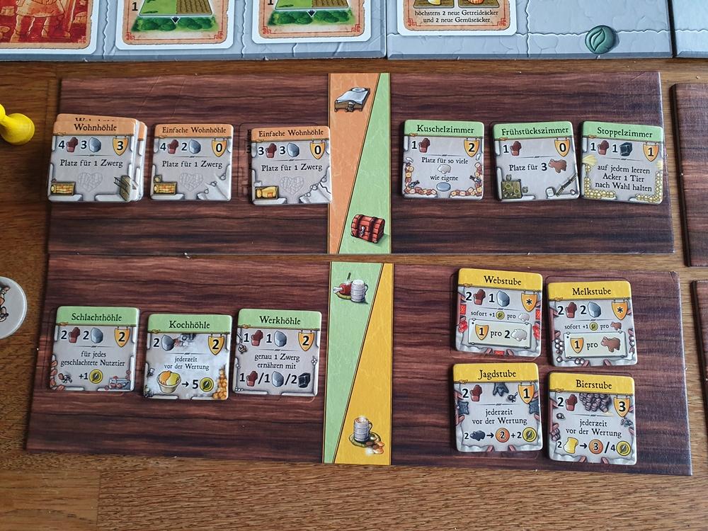 Zusätzlicher Spielplan mit Gebäudeplättchen