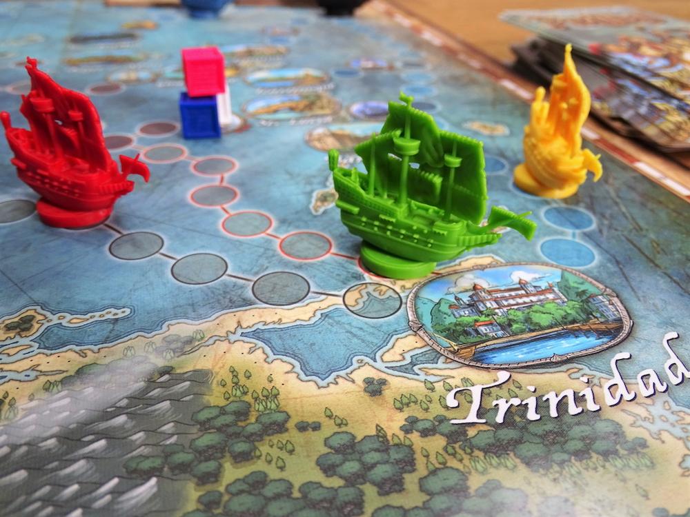 Drei Schiffe befinden sich im Zielanlauf auf Trinidad