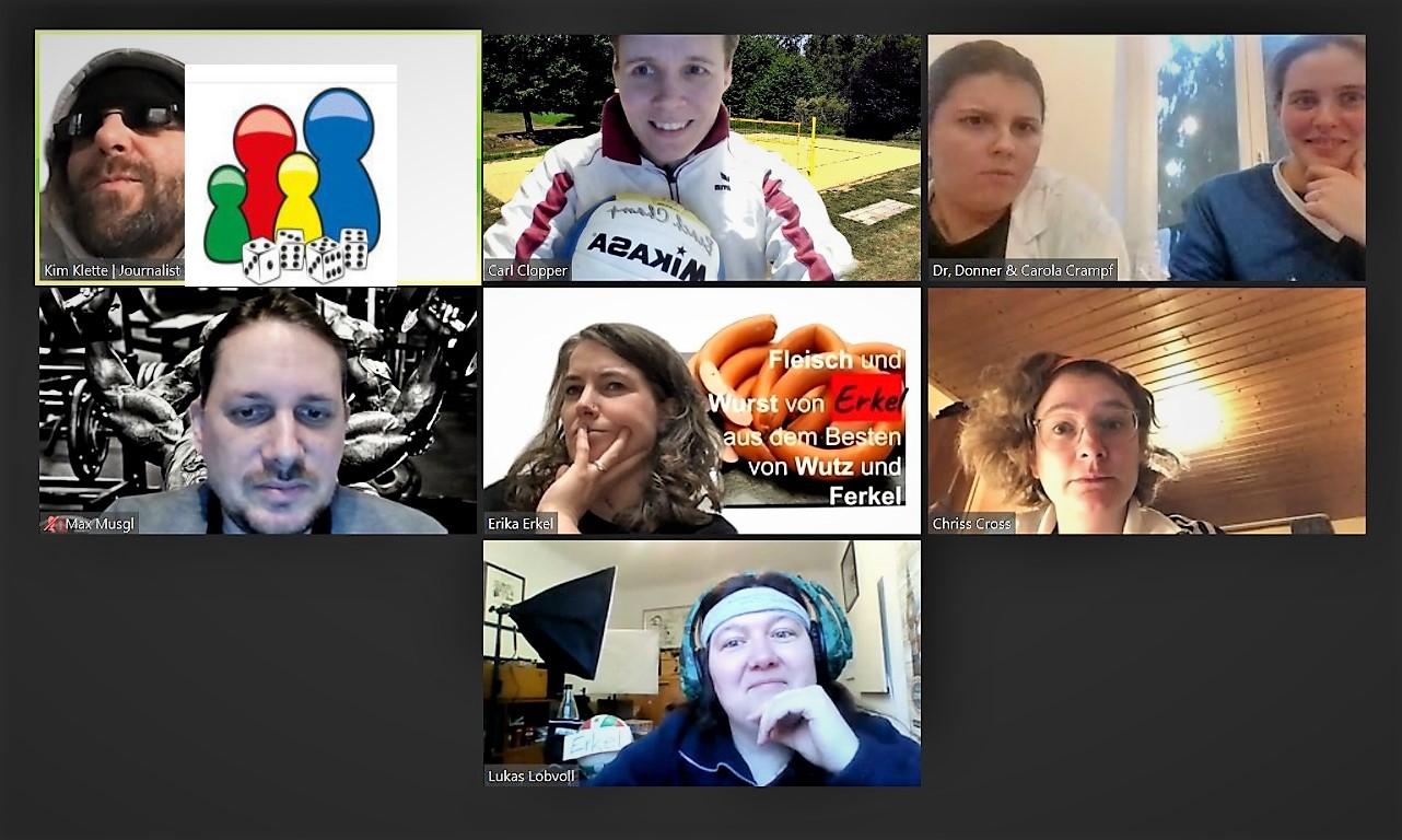 Ein Gruppenbild aller am Spiel beteiligter Rollen