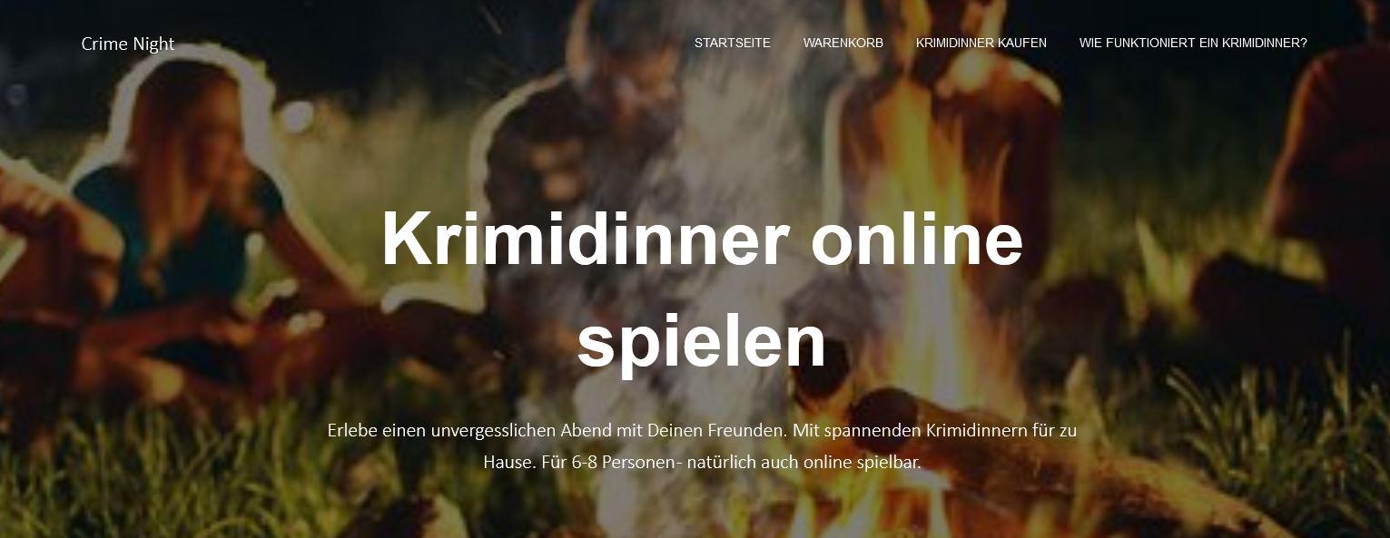 Der Titel der Homepage verspricht es schon: Krimidinner online spielen