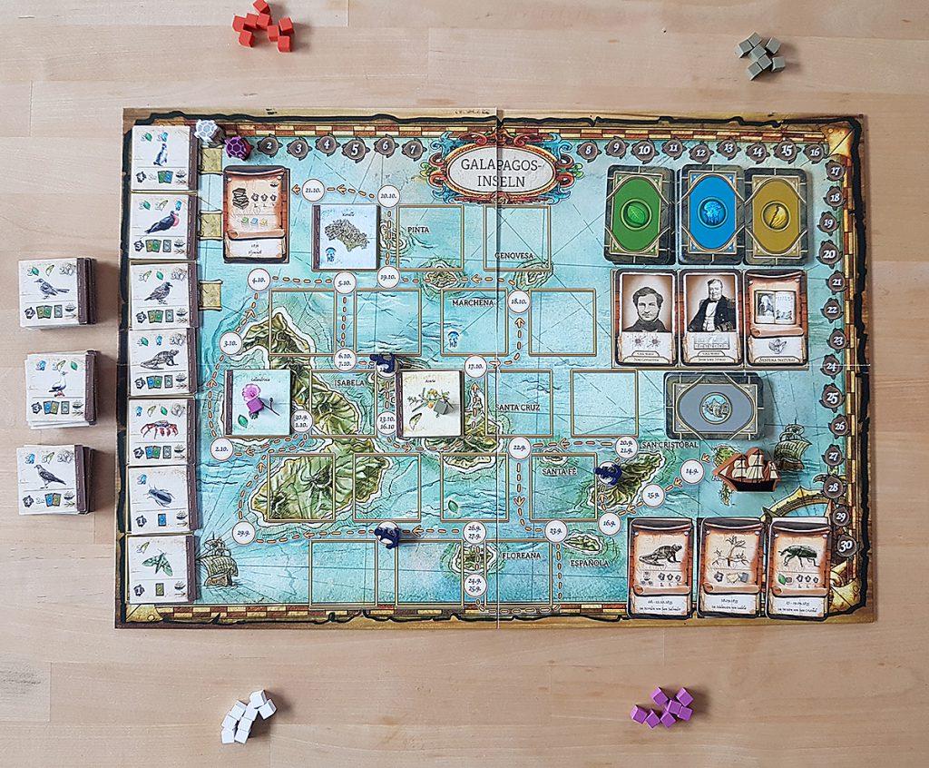 Über die Entstehung der Arten - Spielbeginn für vier Spieler:innen