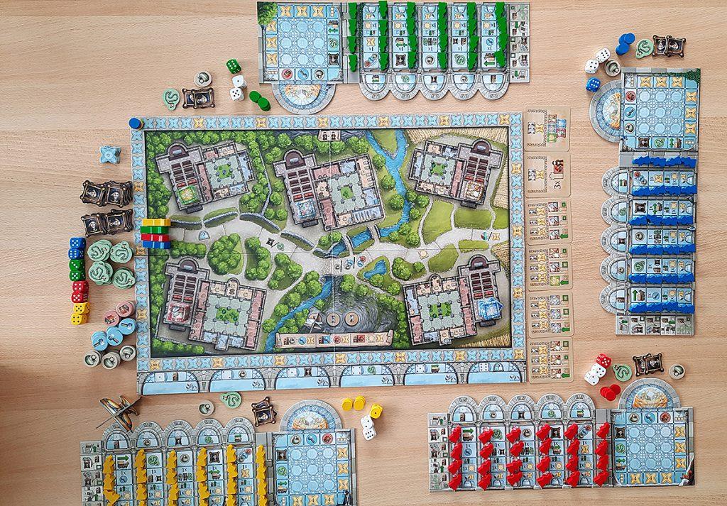 Monasterium - vorbereitet für 4 Spieler:innen