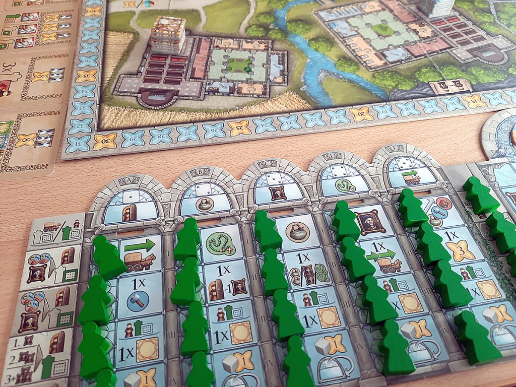 Monasterium - Spielertableau zu Spielbeginn