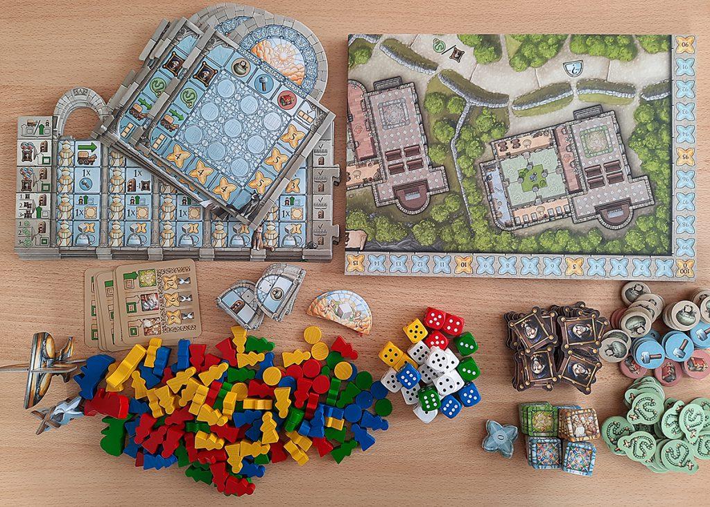 Monasterium - jede Menge Spielmaterial