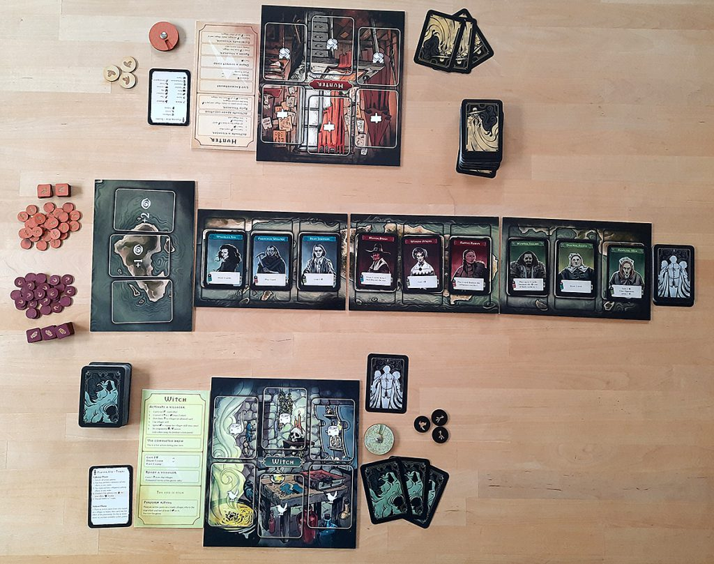 Pagan (Prototyp) - Auslage zum Spielstart