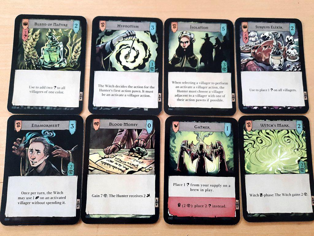 Pagan (Prototyp) - Einige der Spielkarten