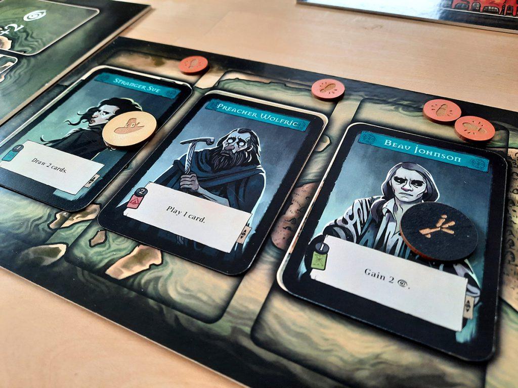 Pagan (Prototyp) - Spielkarten mit Tokens