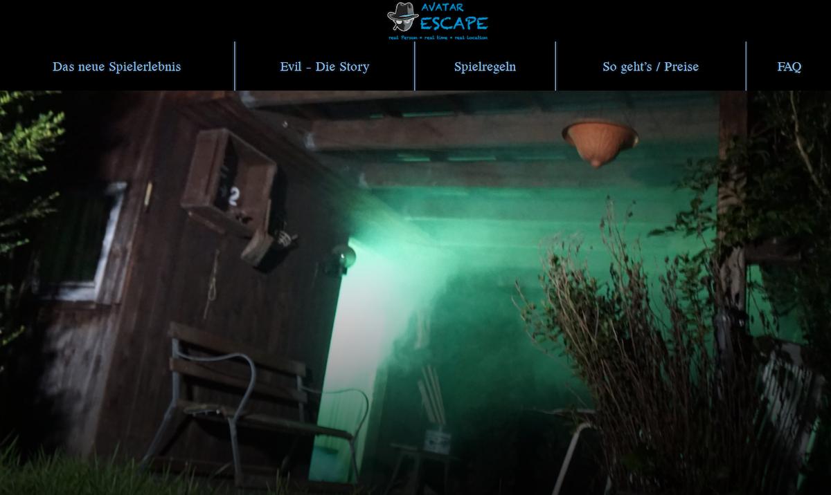 Bild von der Website des Escape-Spiel Anbieters