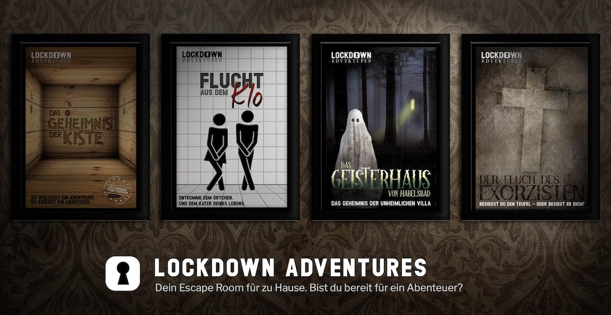 Titelbild der Website Lockdown Adventures
