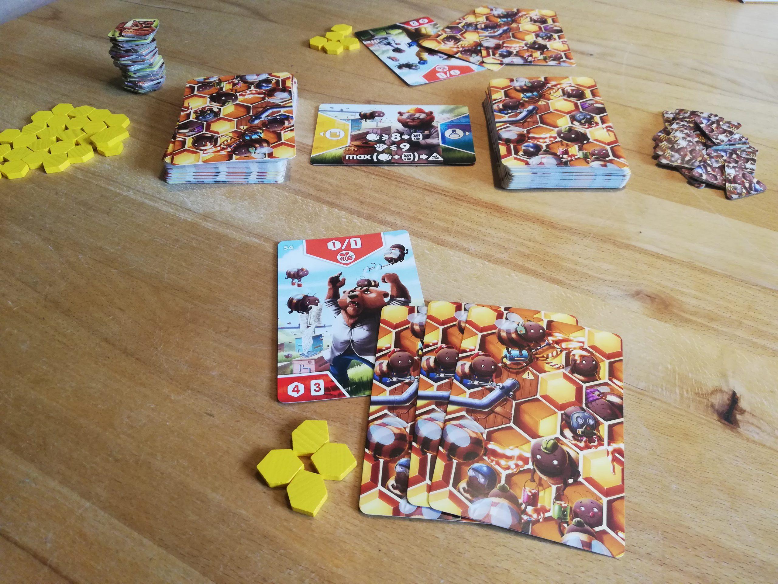 Breaking Bears: Starthandkarten, Honigmarker