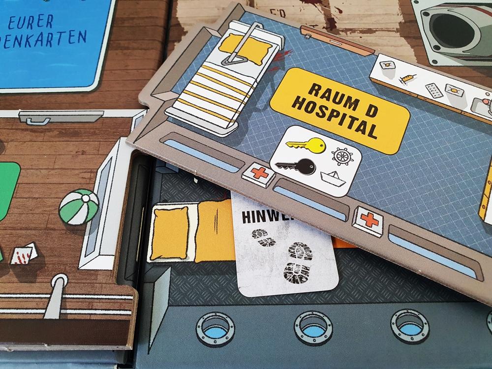 Auf die Schiffsoberfläche werden mit Puzzleteilen zwei Schichten gelegt: Mitteldeck und Oberdeck