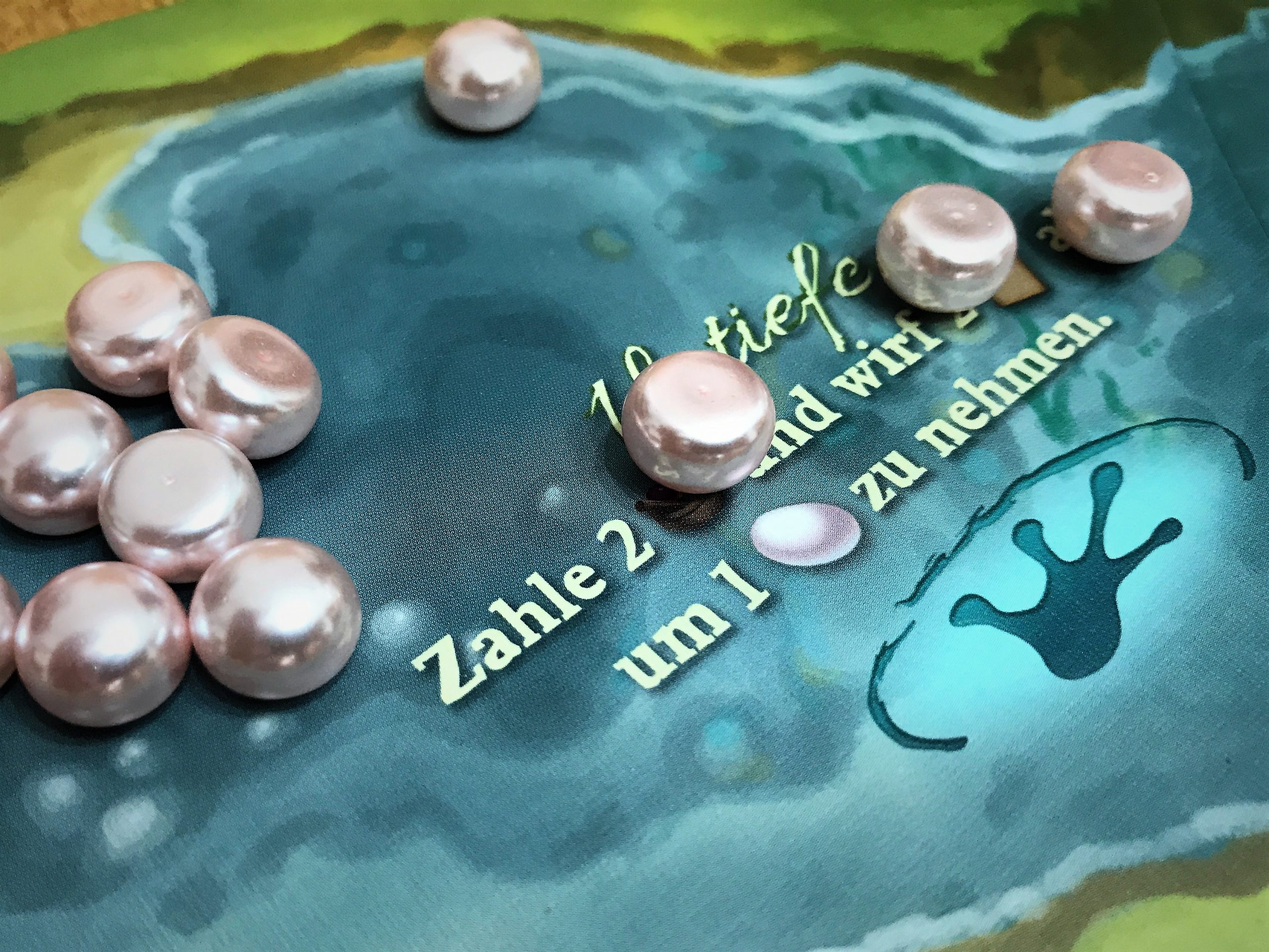 Ein Blick auf die Untiefe mit den Perlen.