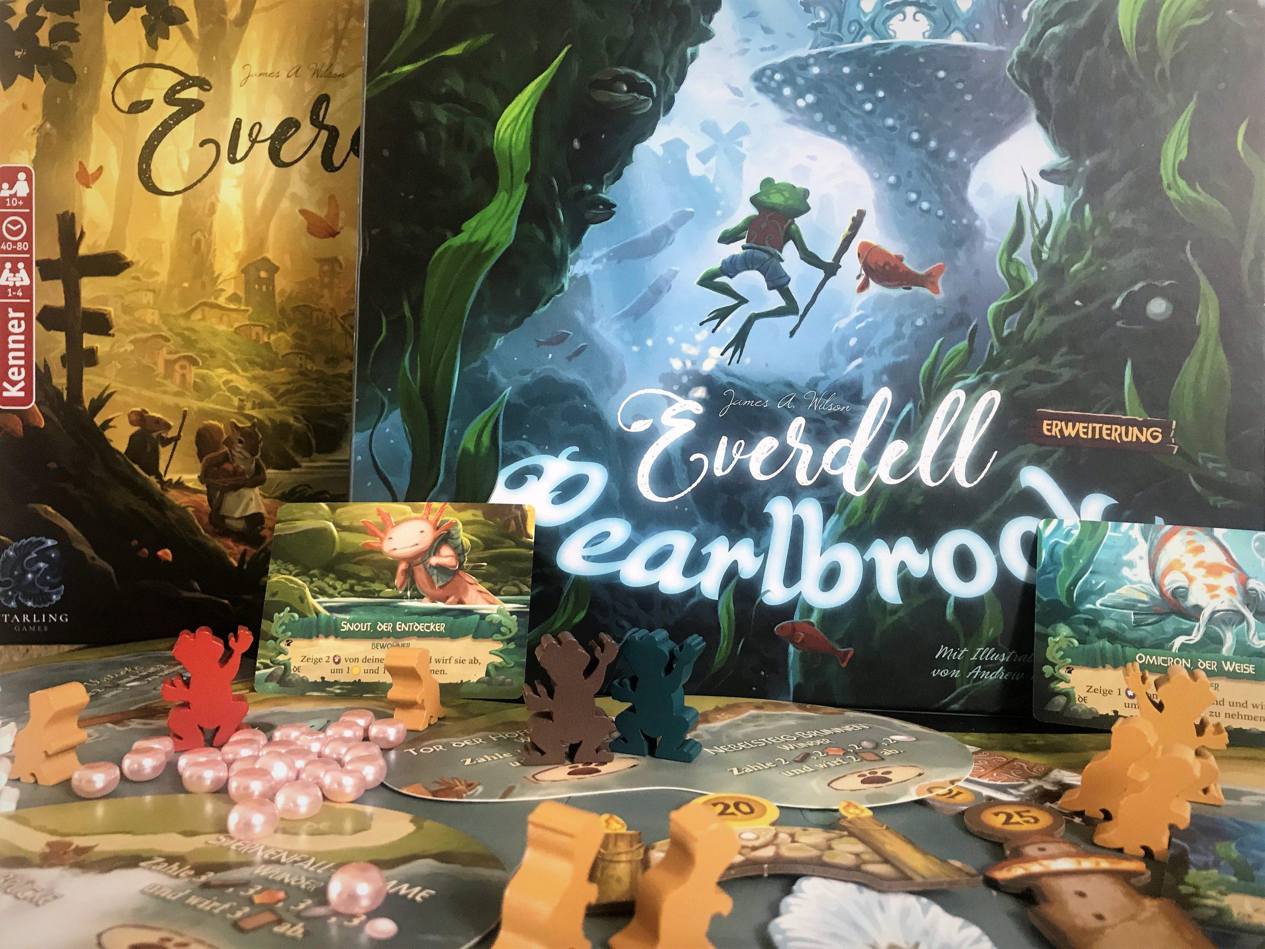 In Pearlbrook steckt mehr niedliches Material für Everdell