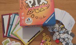Zu sehen ist das Spiel Krazy Pix samt Material