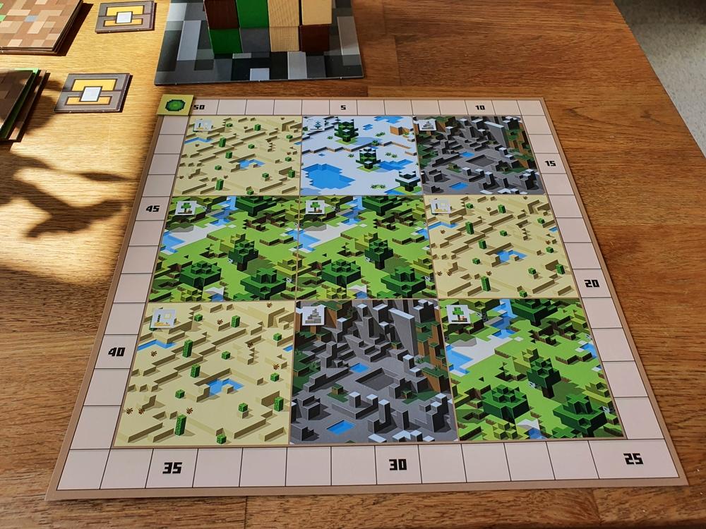 Spielertableau mit neun unterschiedlichen Landschaftsarten