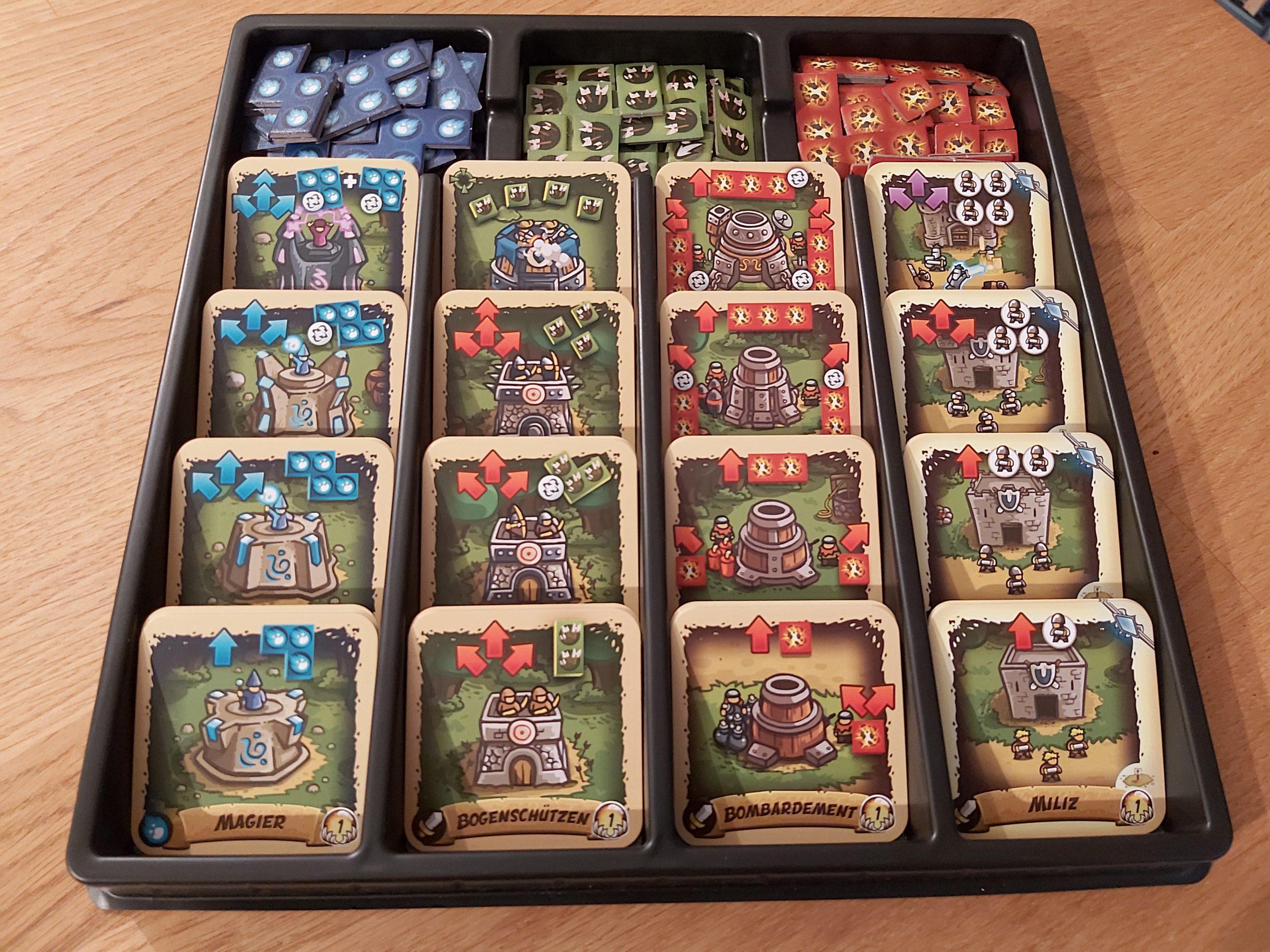 Zu sehen sind die verschiedenen Turmkarten von Kingdom Rush Rift in Time.