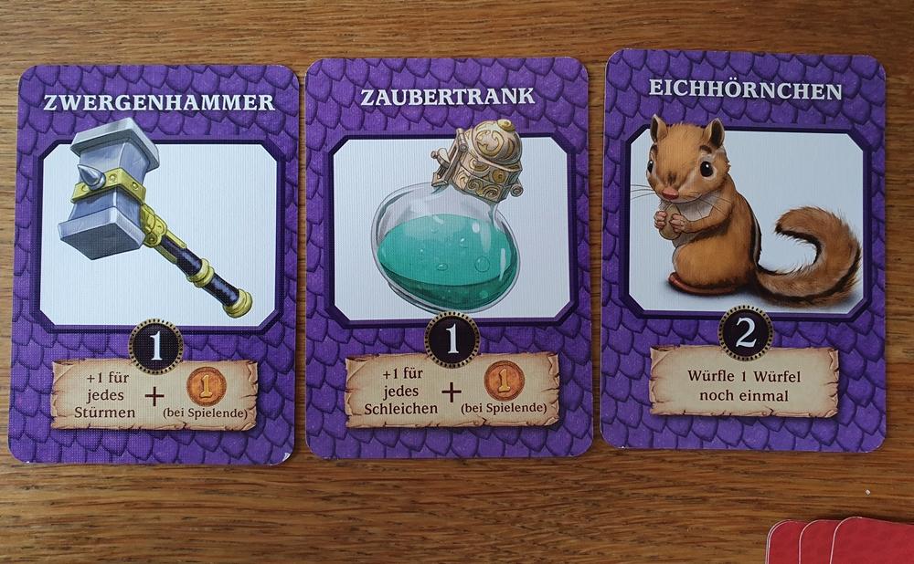 Drei Verstärkungskarten