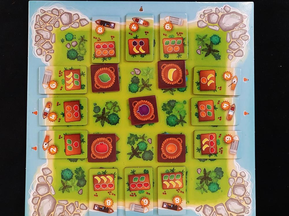 Aufgebautes Tableau eines Spielenden