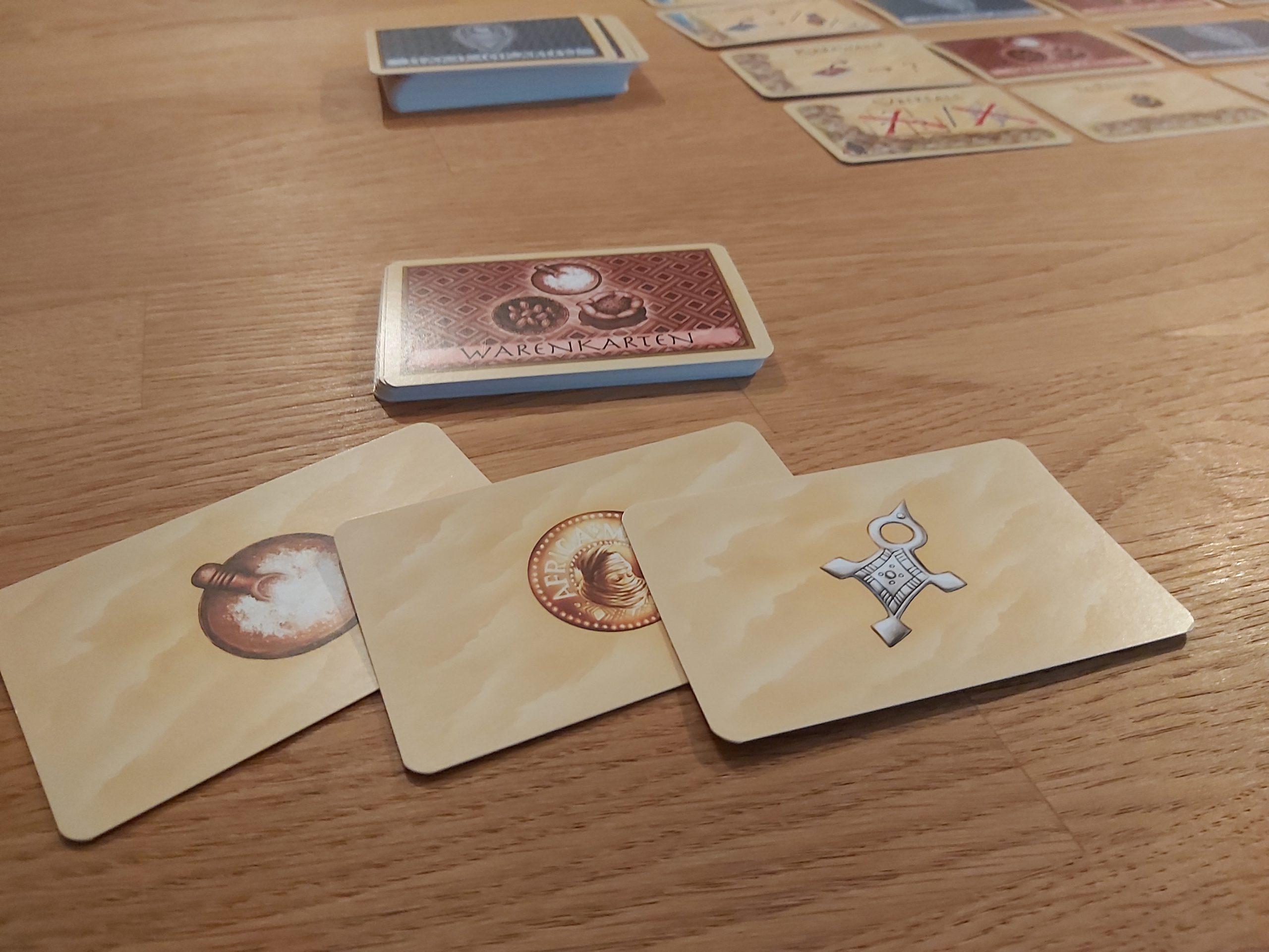 Zu sehen sind die Warenkarten von Targi.