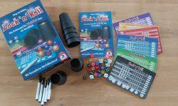 Zu sehen ist Zock'n Roll mit dem gesamten Spielmaterial.
