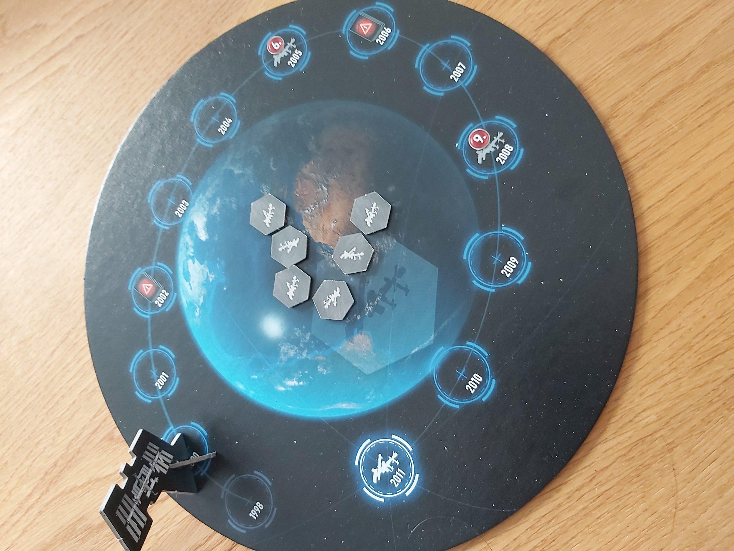 Zu sehen ist der Zeittracker von Mission ISS.